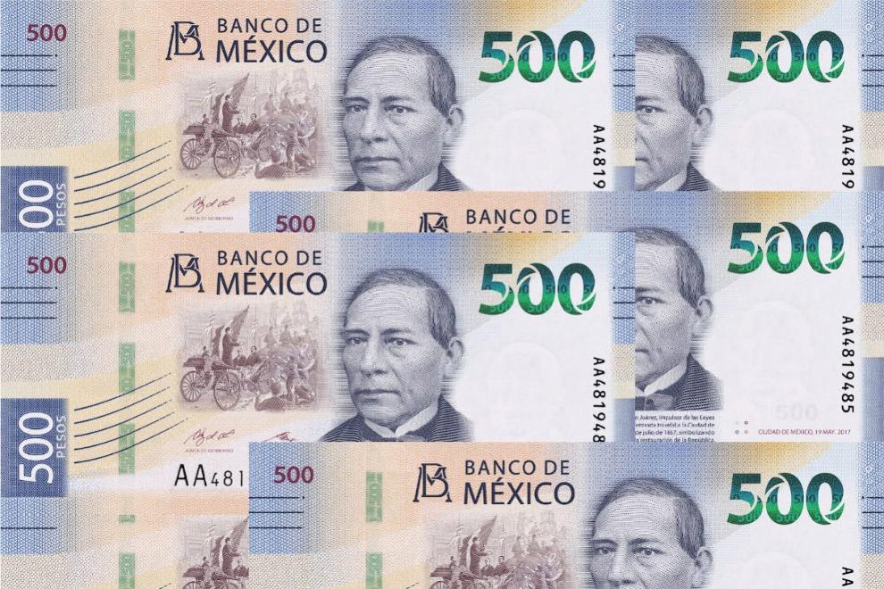 Мексиканские 500 песо