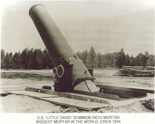 Мортира Little David – самое крупнокалиберное орудие в мире