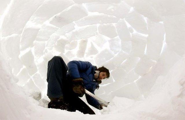 Как эскимосы строят иглу