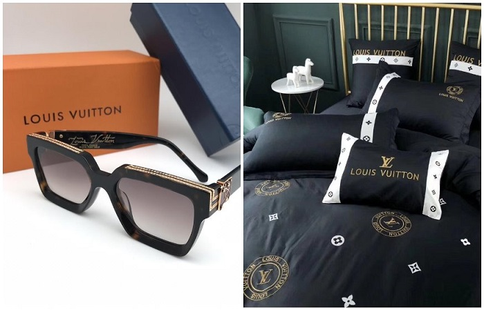 Бренд также производит постельное белье и солнцезащитные очки