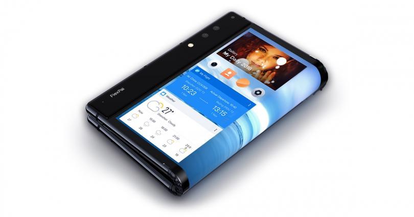 Первый в мире сгибающийся пополам смартфон показала китайская Rouyu