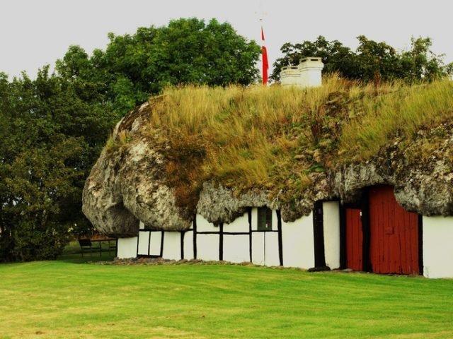 Удивительные дома с крышами из морских водорослей (2)