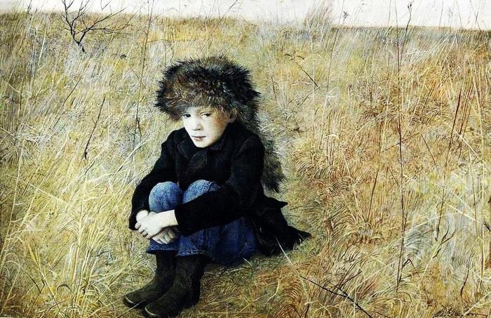 «Вдали от дома» (портрет сына).Автор: Эндрю Уайет.
