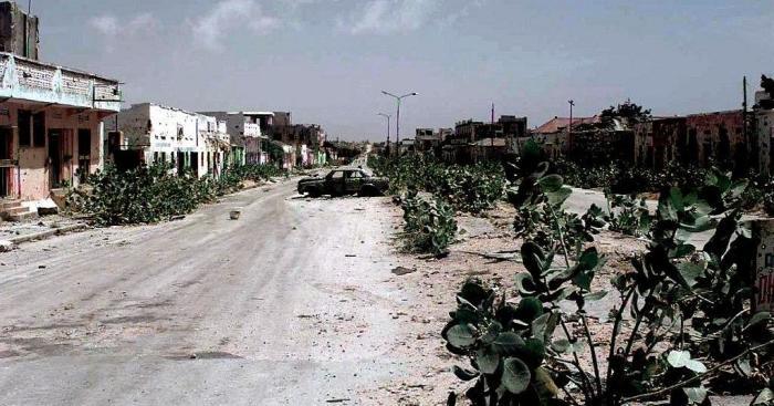 «Зелёная линия» — центральная улица Могадишо, по которой город был разделён на две части в ходе гражданской войны. /Фото: static.euronews.com