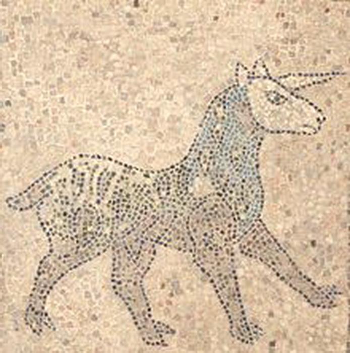 Мозаичный пол в церкви в Равенне; XIII век