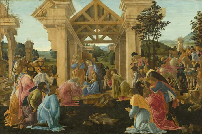 «Поклонение волхвов», Сандро Боттичелли (картина, проданная в 30-е годы из коллекции Эрмитажа)