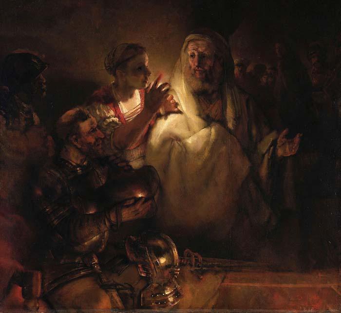 Рембрандт, «Отречение Петра»  (картина, проданная в 30-е годы из коллекции Эрмитажа)