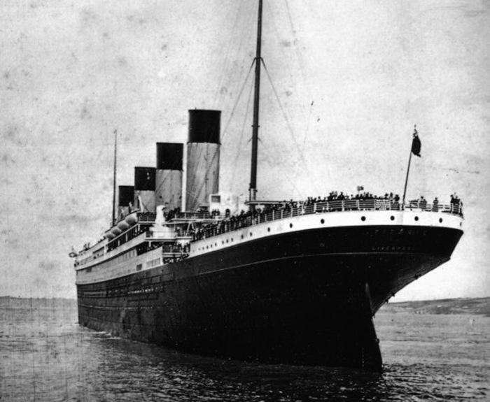 Вид на корму «Титаника»
