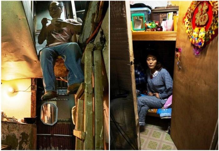 Ужасающие условия жизни в гонконгских коммуналках («coffin homes», Гонконг). | Фото: nafanko.livejournal.com.