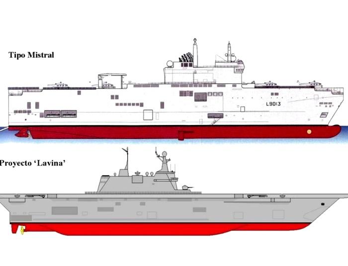 Сравнение французского и российского кораблей. /Фото: defence.pk