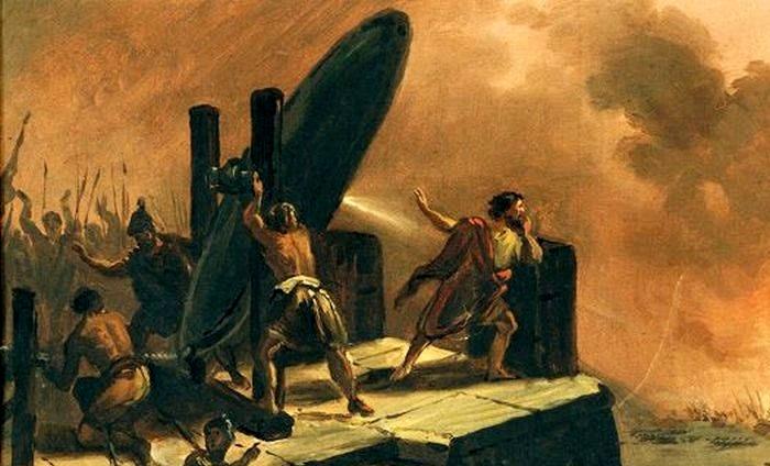 От действия  зеркал Архимеда римские корабли вспыхивали как спички. /Фото: mirchudes.net