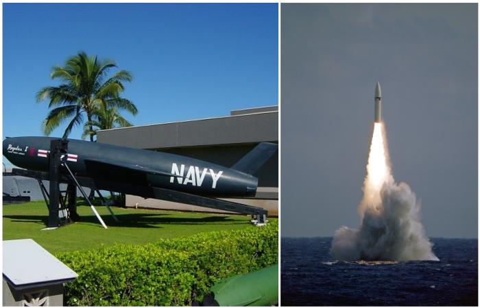 Ракеты SSM-N-8A «Регулус» и UGM-27 «Поларис». /Фото: wikipedia.org