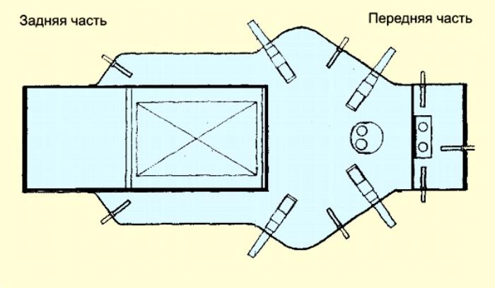 Компоновка танка, оригинальный чертеж. /Фото: Wikipedia.org