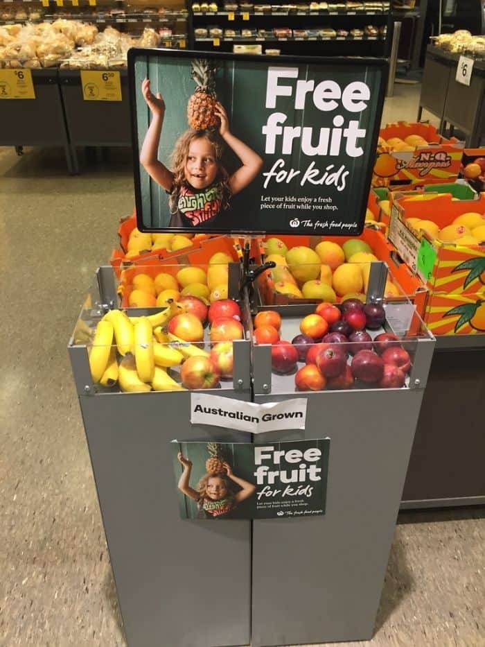 My Local Supermarket Offers Free Fruit To Children