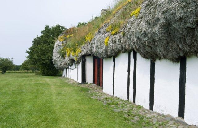Удивительные дома с крышами из морских водорослей (6)