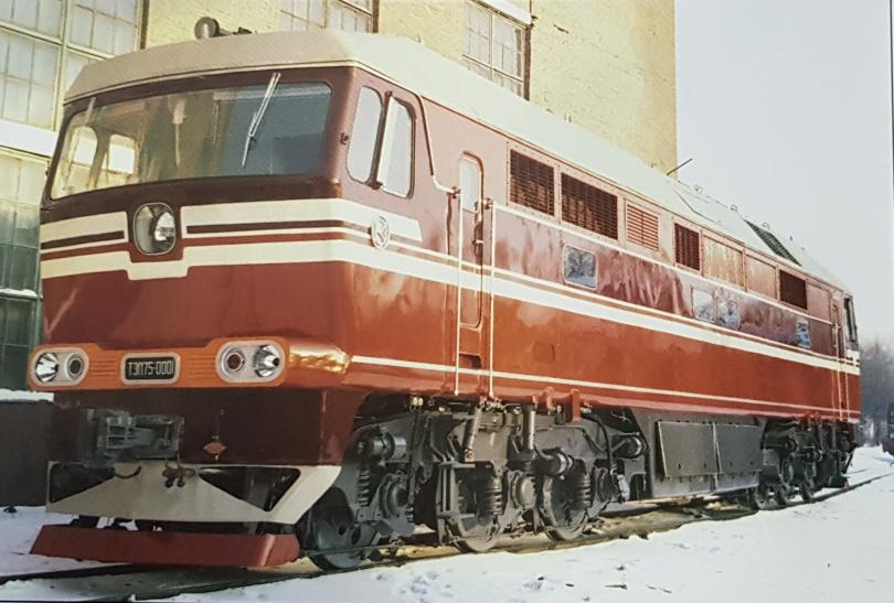 Тепловоз ТЭП75-0001. Коломенский завод. 1976г.