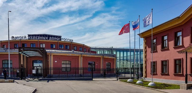Парадная Музея железных дорог России в С.Петербурге на Балтийском вокзале. Фото: Алексей Алексеев