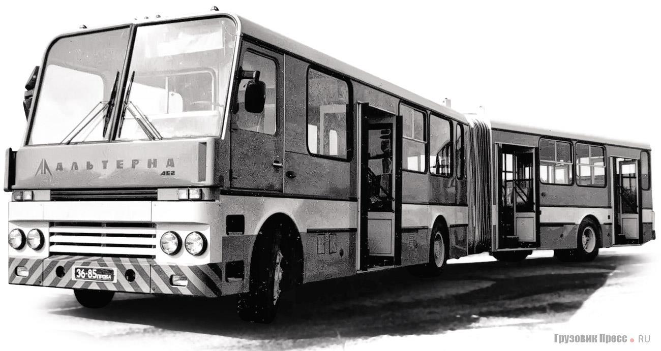 Перонный автобус «Альтерна-7202» с двухсторонним расположением служебных дверей