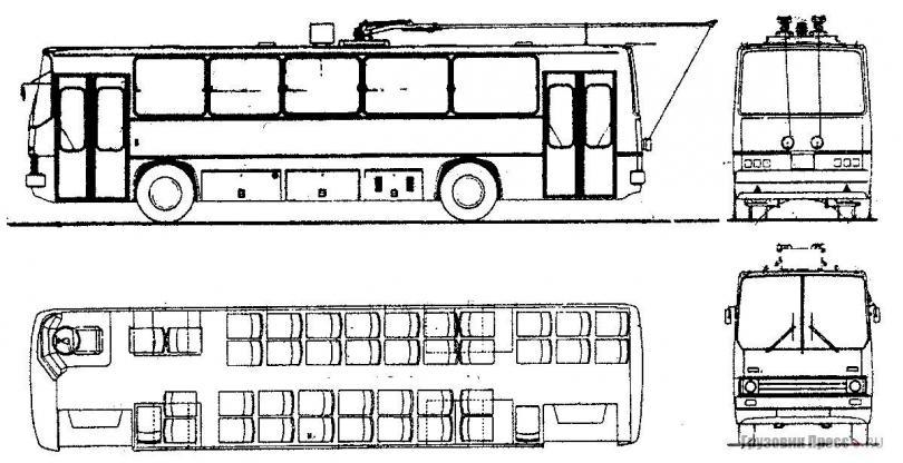 Проект троллейбуса Ikarus 260T для стран с левосторонним движением