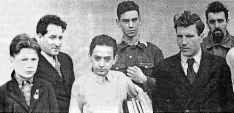 На математической олимпиаде школьников. Слева: С.В. Яблонский, Л.А. Люстерник, В.Г. Болтянский; справа Л.С. Понтрягин