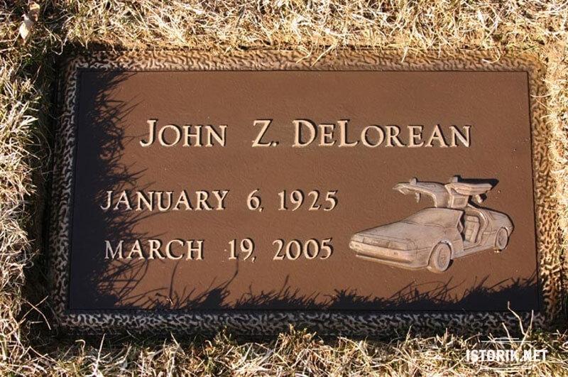 Надгробный памятник Джона Делореана