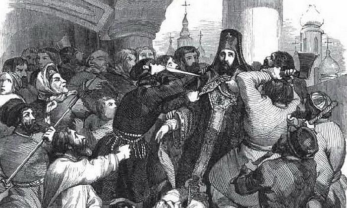 «Чумной бунт» в Москве в 1771 году