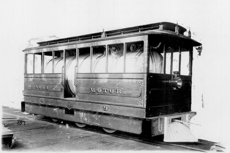 Содовый локомотив железной дороги