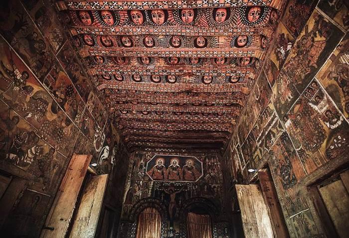 Эфиопские рукописные иконы (фрески). /Фото:kommersant.ru