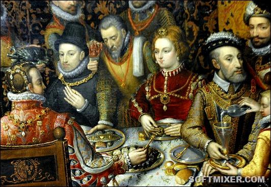 Sánchez_Coello_Royal_feast_(detail)