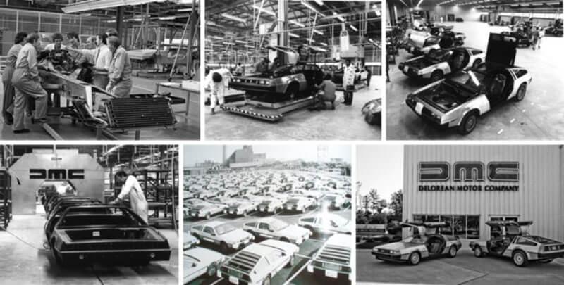 Производство автомобиля Делориан (DeLorean DMC-12).