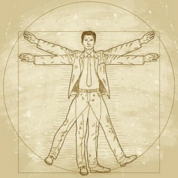 Витрувианский человек. Золотое сечение.