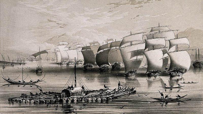 Британский флот у берегов Китая