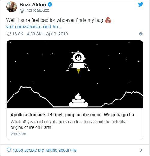 «Мы это делали»: астронавты ответили за экскременты на Луне