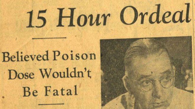 Городская газета Chicago Daily Tribune сообщала, что Шмидт не считал укус бумсланга смертельным