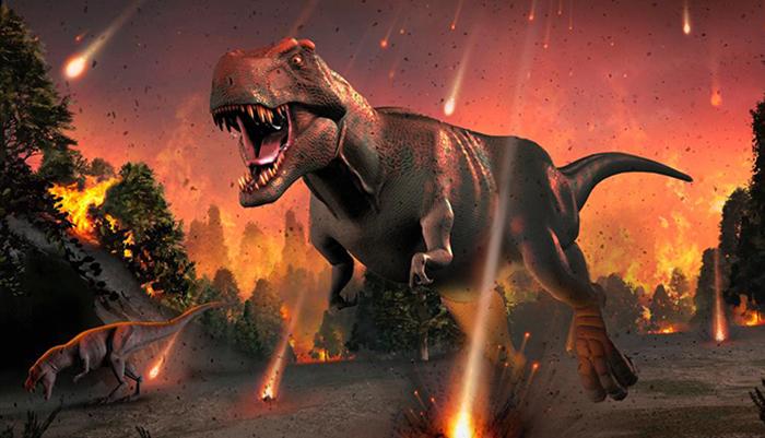 Падение астероида на землю считается наиболее вероятной версией вымирания динозавров.