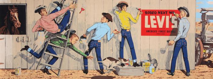 Винтажная реклама Levi's / Фото: www.ponedelnikmag.com