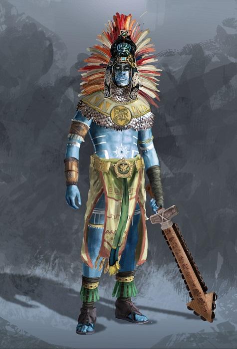 Уицилопочтли был богом солнца, но с кожей цвета неба.