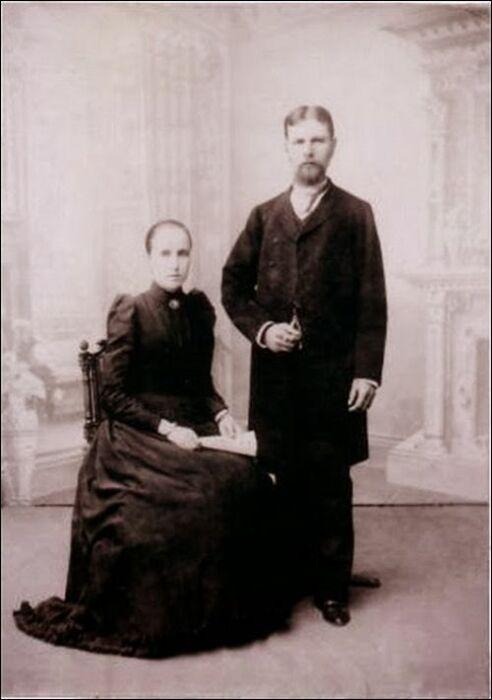 Григорий Елисеев с первой женой Марией Дурдиной. / Фото: www.wikipedia.org