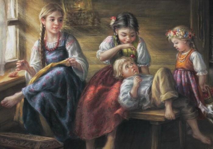 ласка и родительская любовь доставалась отнюдь не всем детям.