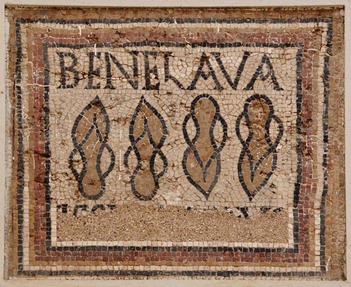 Мозаика, найденная в Тимгаде.