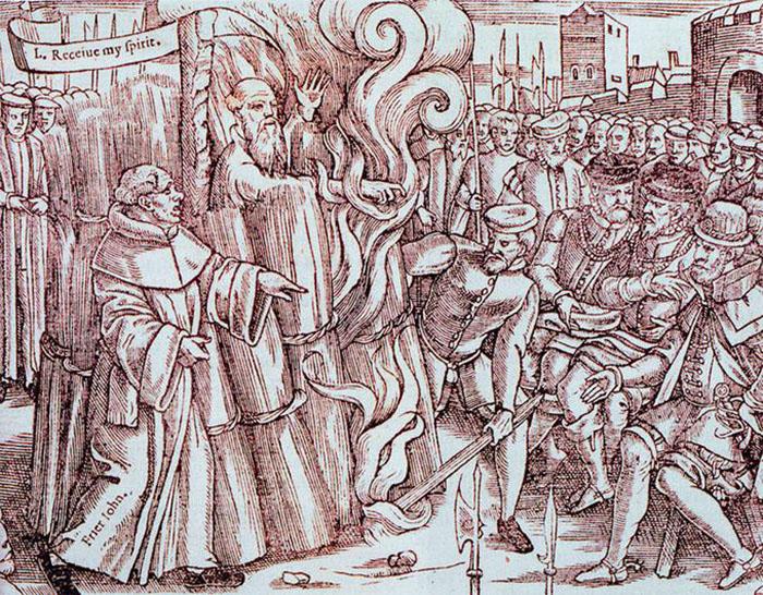Книга была снабжена весьма красноречивыми гравюрами казней протестантских мучеников.
