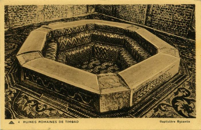 Купель для крещения, найденная в Тимгаде.