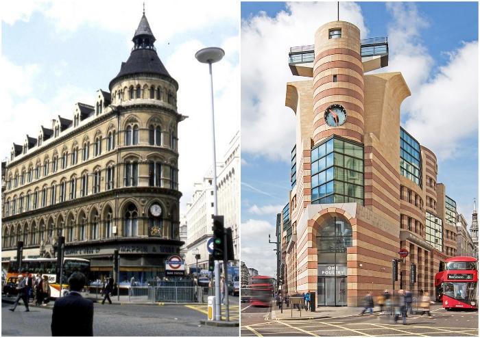 Неоготическое здание Mappin & Webb Building в Лондоне заменил объект, создатели которого напрочь проигнорировали очевидные и традиционные знания о красоте и пропорциях. | Фото: timeviews.home.blog.