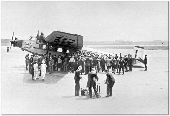 Полет в 1925 году. /Фото: