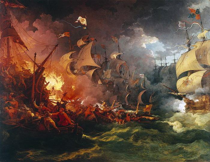 Ф.Я. Лютербург «Разгром испанской армады»