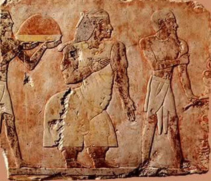 Изображение вождя Пареху и его жены