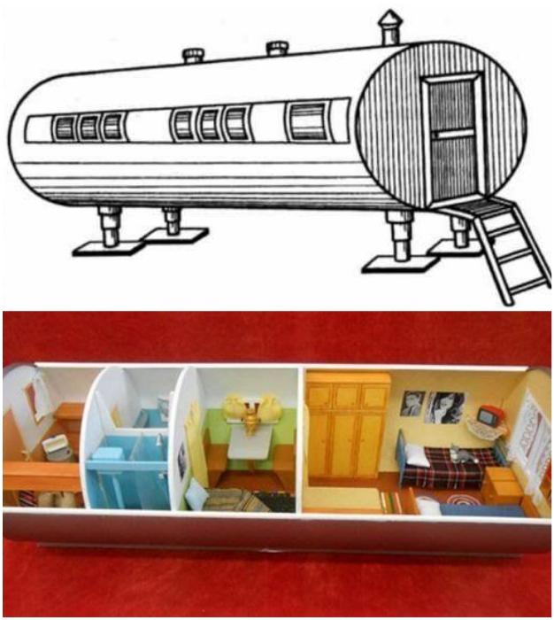 Первые «Цельнометаллические унифицированные блоки» были разработаны в 1975 г.