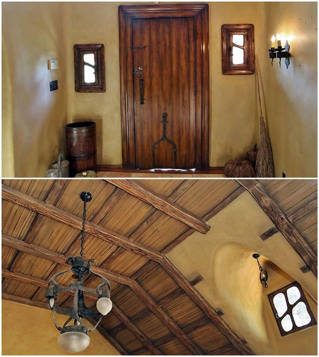 Оформлением сказочного интерьера занимались профессиональные декораторы из разных киностудий (The Witch's House, Беверли-Хиллз).