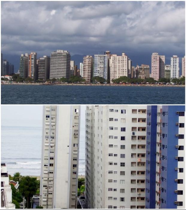 Просчеты инженеров-строителей превратили бразильский город в «заповедник падающих домов» (Сантос, Бразилия).