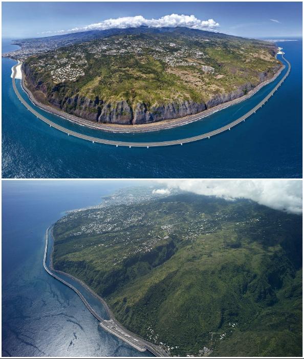 Самое грандиозное строительство в истории острова подходит к завершению (The Viaduc de la Nouvelle Route du Littoral).